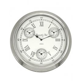 White And Nickel Wall Clock