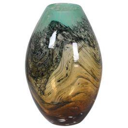 Amber Base Bulbous Vase