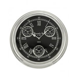 Black And Nickel Wall Clock