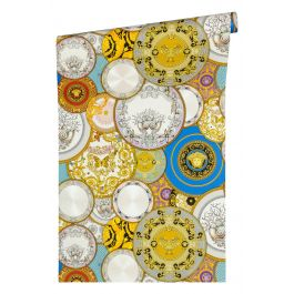 Versace Dish Multi-Coloured Wallpaper