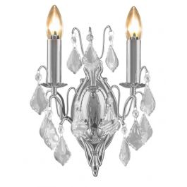 French Chrome Wall Scone Light