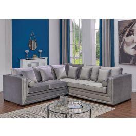 Vienna Corner Sofa - Silver
