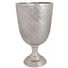 Silver Patterned Vase Large