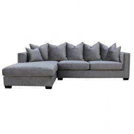 Oslo Corner Sofa Left - Grey