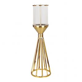 Gold Hexagon Candle Holder - Large