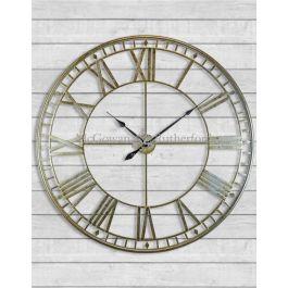 Large Silver Skeleton Clock