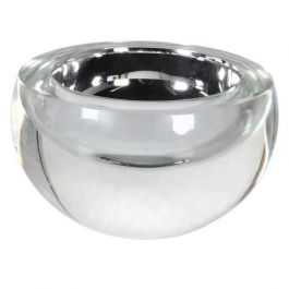 Small Silver Crystal Candle Holder