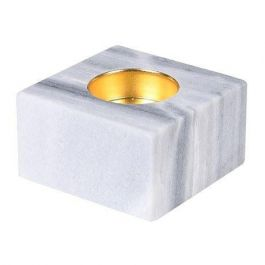 White Marble Candle Holder