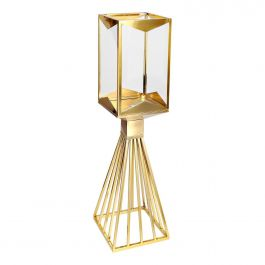 Gold Square Candle Holder - Medium