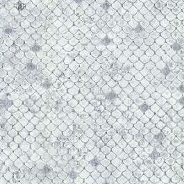 Roberto Cavalli White Scale Wallpaper