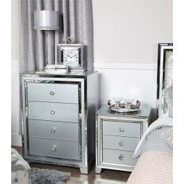 The Atlantis Grey 4 Drawer Cabinet