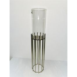 Collum Silver Candle Holder Large