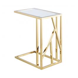 Azaria Gold Clear Glass Top Sofa Table