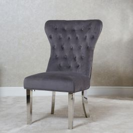 Bella Lion Back Dining chair Grey