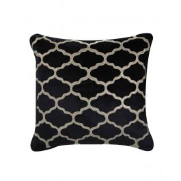Marrakech Patterned Black Velvet Cushion 50X50