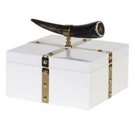 White and Gold Horn Box