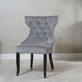 Camilla Button Back Dining Chair Silver