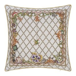 R.C Silk White Cushion 40x40