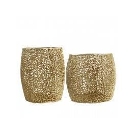 Gold Set of 2 End Tables