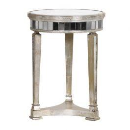 Aged Venetian Seville Round Lamp Table