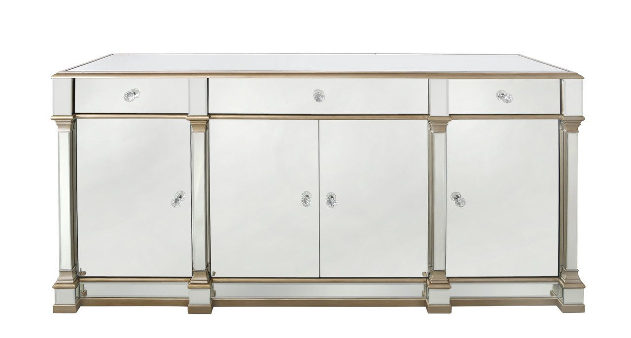 The Louis Sideboard Four Door Three Drawer Gold Sideboards Cab