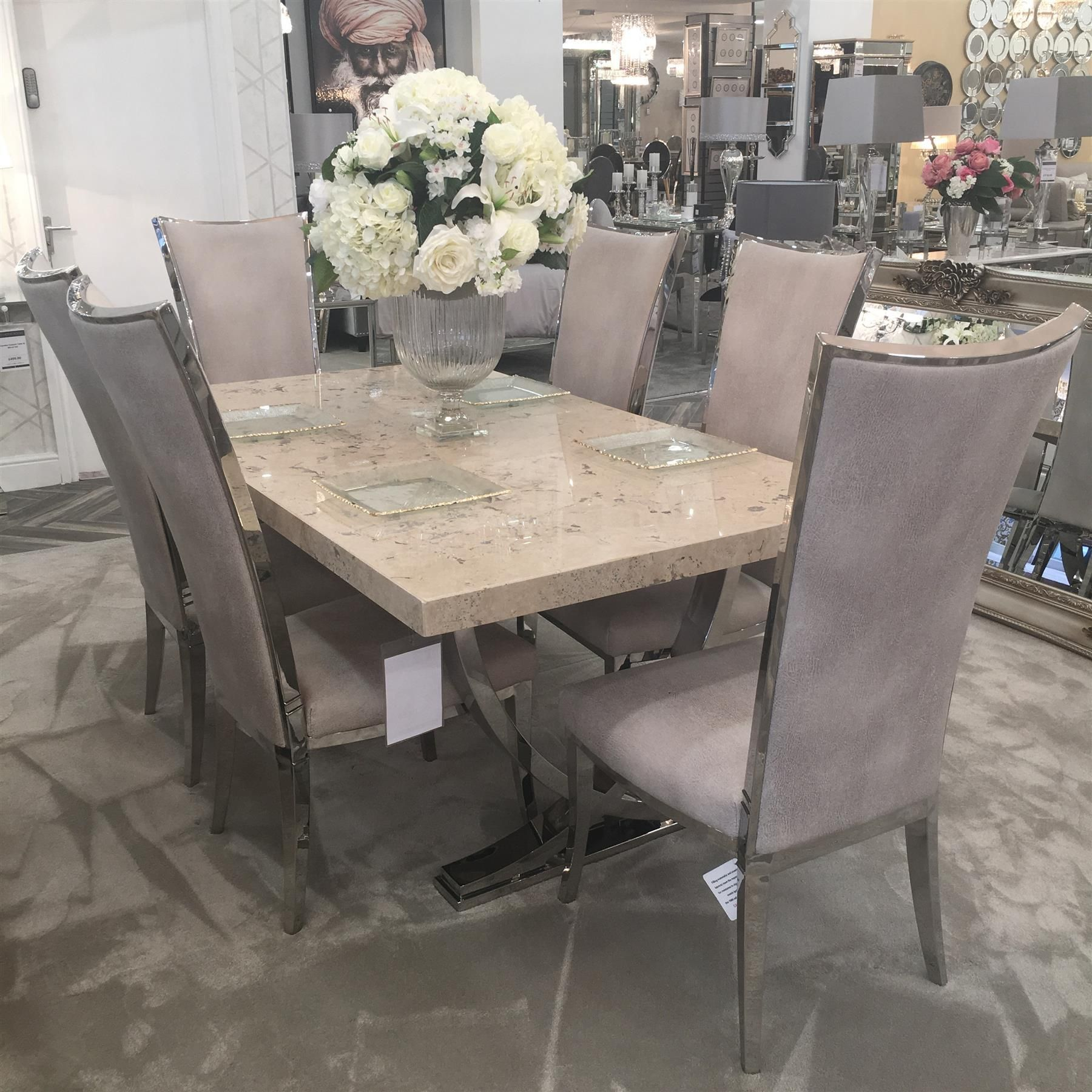 Awe Inspiring The Opulence Dining Table 6 Grace Chairs Download Free Architecture Designs Xaembritishbridgeorg