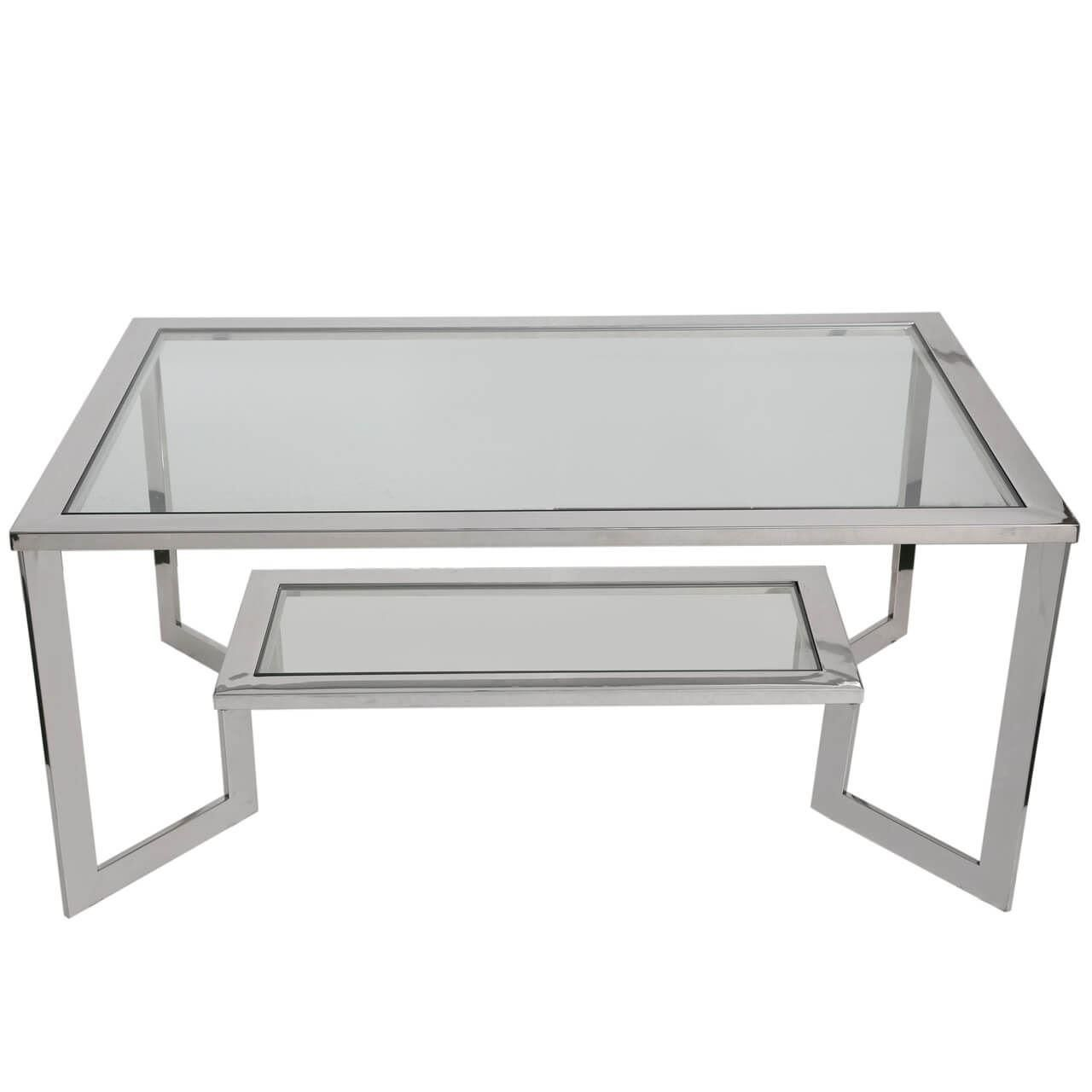 Enjoyable Chrome Coffee Table Gmtry Best Dining Table And Chair Ideas Images Gmtryco