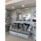 The Savannah Grey Pattern 2.5 Seater Sofa