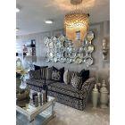 The Savannah Grey Pattern 3.5 Seater Sofa