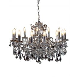 12 Chrome With Chrome Crystal Chandelier