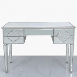 Medina Silver 5 Drawer Dressing Table