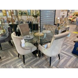 Oxford Glass Dining Table & 4 Dining Chairs