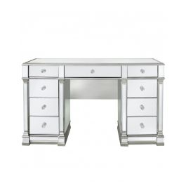 The Louis Nine Drawer Dressing Table Silver