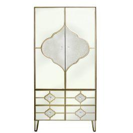 Medina 2 Door 4 Drawer Mirror Wardrobe
