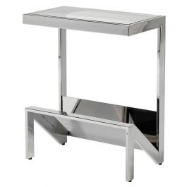 Harlo Stainless Glass Top Sofa Table