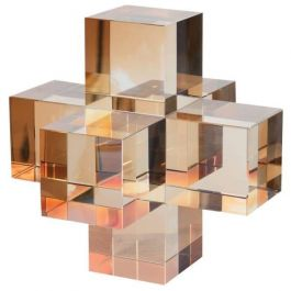 Amber Crystal Cubes Ornament