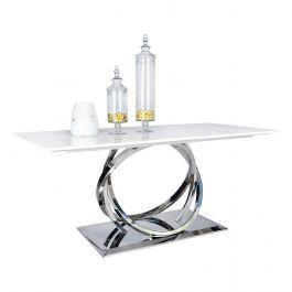 Harley Marble & Chrome 180cm Dining Table