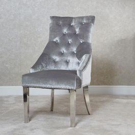 Elise Silver Knocker Back Dining Chair