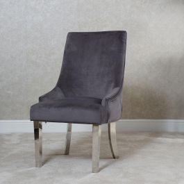 Emilia Button Back Dining Chair Grey