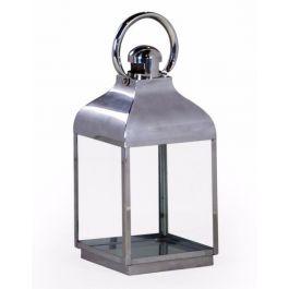 Chrome And Glass Lantern Small