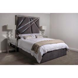 Romo Grey Metal Bed