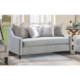 ALMA - 2 Seater Sofa Silver