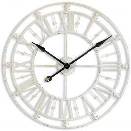 Medium Antique Cream Iron Skeleton Clock