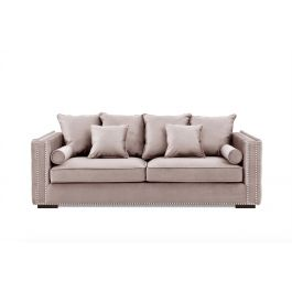 Valentia Three Seater Sofa Pink