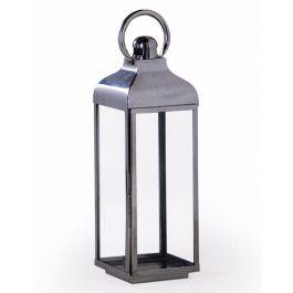 Chrome And Glass Lantern Large