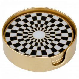 Coasters Circular Chequer Design - Set of 4