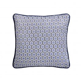 Hexagon Blue Cushion 43x43