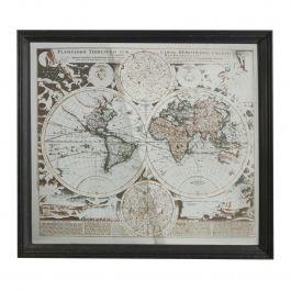 Map Mirrored Wall Art