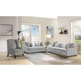 ALMA - 3 Seater Sofa Silver