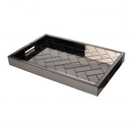 Garda Smoked Glass Tray